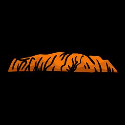 Ayers Rock Hand gezeichnet