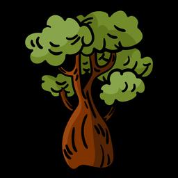 Árbol de baobab drwan de mano