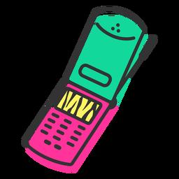 Celular flip ícone