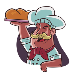 Chef hand drawn