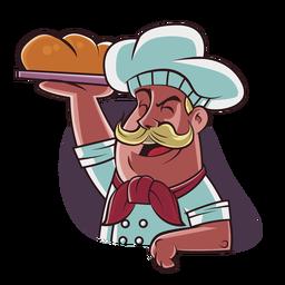 Dibujado a mano chef