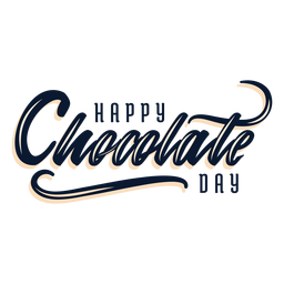 Chocolate day lettering