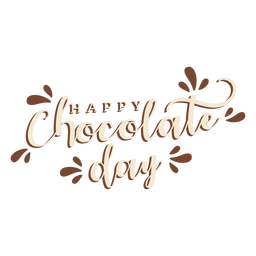Chocolate day lettering happy chocolate day