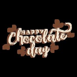 Dia do chocolate letras feliz dia do chocolate