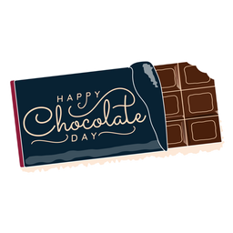 Chocolate day lettering happy chocolate day greeting