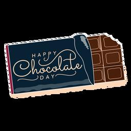 Letras del día del chocolate feliz saludo del día del chocolate