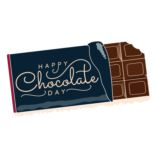 Chocolate day lettering happy chocolate day greeting Transparent PNG