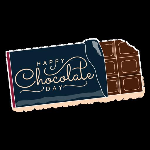 Letras del día del chocolate feliz saludo del día del chocolate Transparent PNG