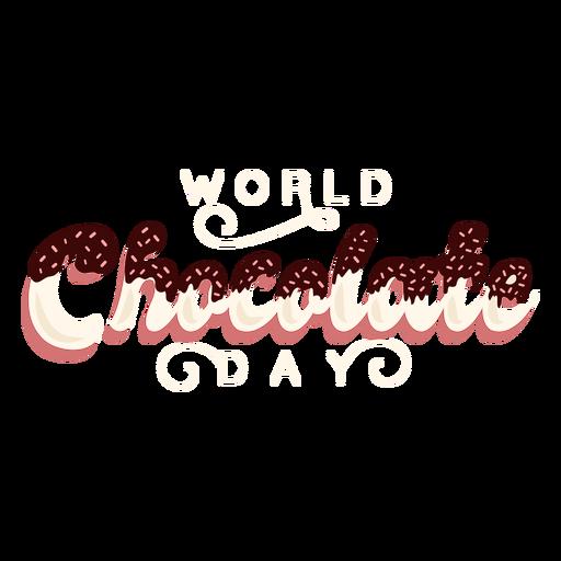 Letras del día del chocolate día mundial del chocolate