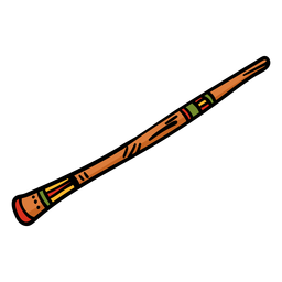 Dibujado a mano instrumento musical didgeridoo