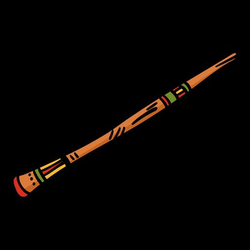 Didgeridoo instrumento musical dibujado a mano Transparent PNG