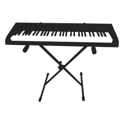 Electronic keyboard professional black