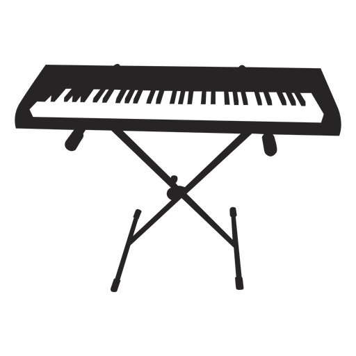 Electronic keyboard professional black Transparent PNG