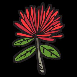 Blumenhand gezeichnet
