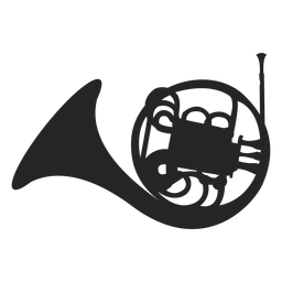 Französisch Horn Musikinstrument schwarz