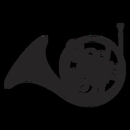 Instrumento musical de corno francés negro