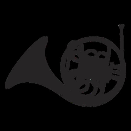 Instrumento musical de corno francés negro Transparent PNG