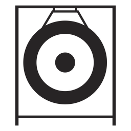 Gong instrumento musical negro