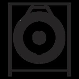 Gong musical instrument black