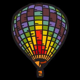 Hot air balloon hand drawn