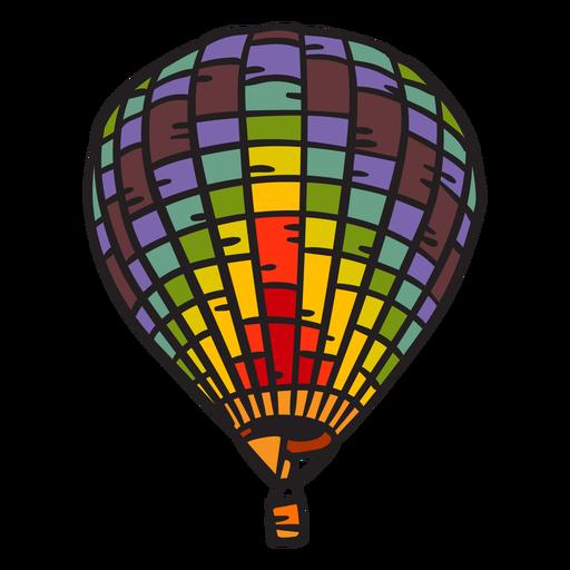Hot air balloon hand drawn Transparent PNG