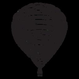 Globo de aire caliente negro