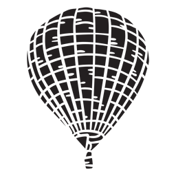 Hot air balloon black
