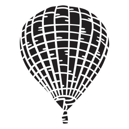 Balão de ar quente preto