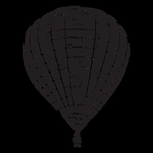 Globo de aire caliente negro Transparent PNG