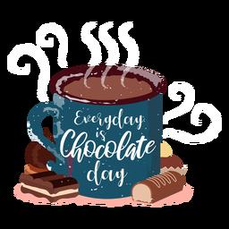 Chocolate quente mão desenhada chocolate quente