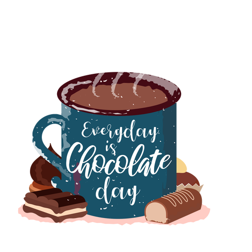 Chocolate caliente dibujado a mano chocolate caliente