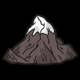 Dibujado a mano pico de la montaña helada
