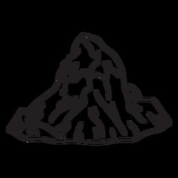 Eisige Berggipfel Schlaganfall