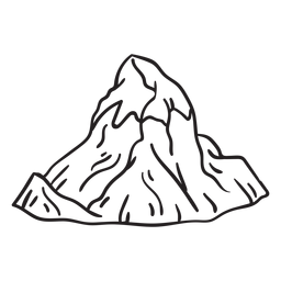 Icy mountain peak stroke