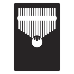 Kalimba instrumento musical preto