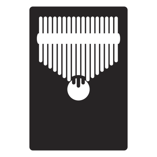 Kalimba musical instrument black Transparent PNG