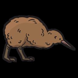 Dibujado a mano pájaro kiwi