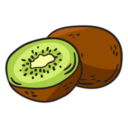 Kiwifruit hand drawn