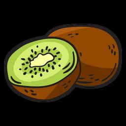 Mão de kiwi desenhada