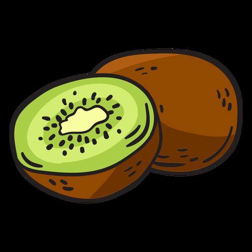 Dibujado a mano kiwi Transparent PNG