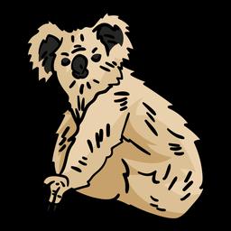 Mão de urso coala desenhada