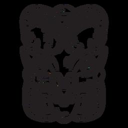 Trazo de máscara maorí