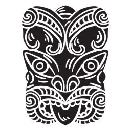 Maori mask black
