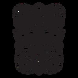 Máscara maorí negra
