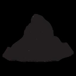 Mountain peak black