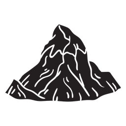 Pico da montanha preto