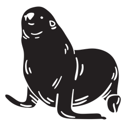 Seal animal black