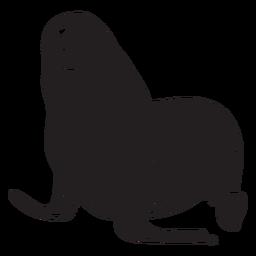 Siegel Tier schwarz