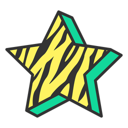 Icono de signo de estrella