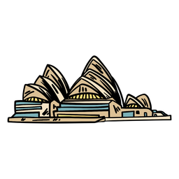 The sydney opera house hand drawn